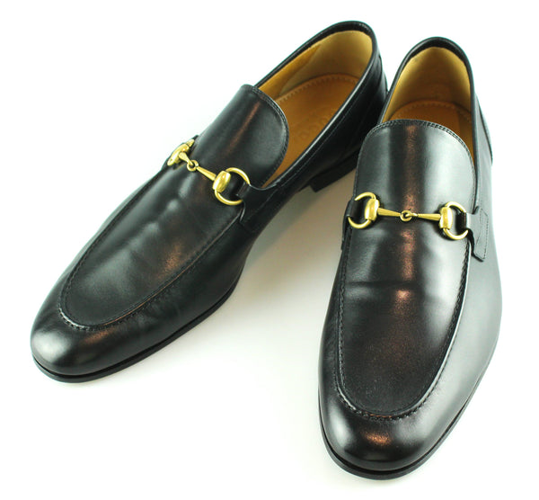 25c14384802e Gucci Jordaan Black Leather Loafer UK 12 – Designer Exchange Ltd