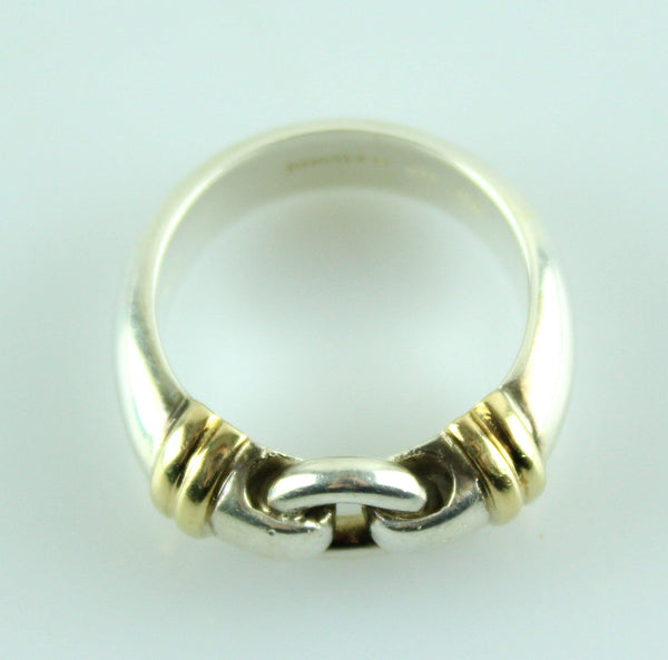 Tiffany & Co. Retired 18k Gold/Silver Loop Ring