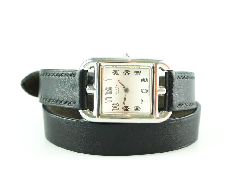 Hermes Cape Cod Black Double Tour Watch