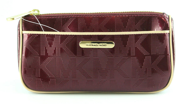 Michael Kors Plum Patent Mono Cosmetic Bag