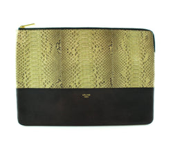 Celine Python And Lambskin Pouch