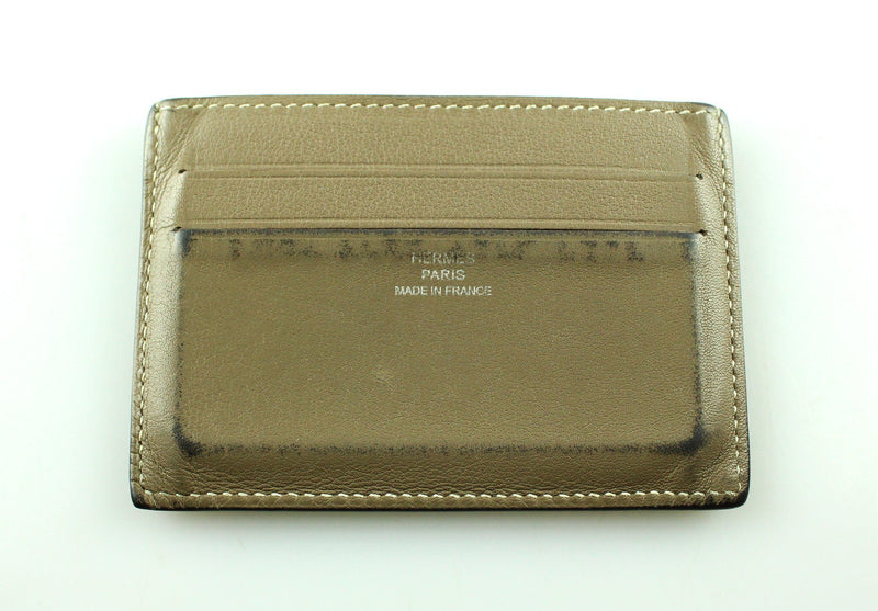 Hermes Card Holder Taupe Swift Leather