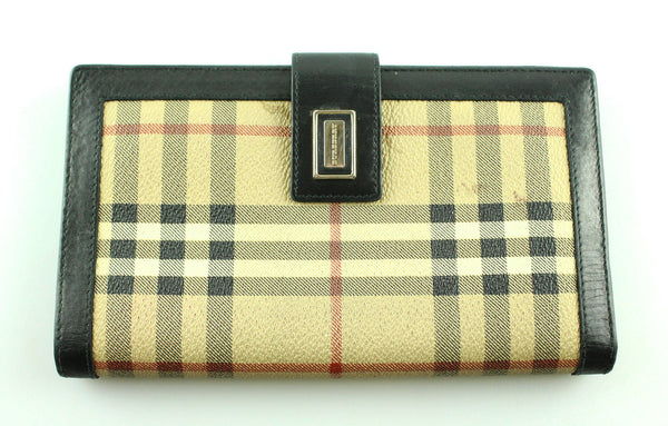 Burberry Heritage Check Large Wallet