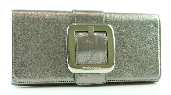 Michael Kors Metallic Silver Sutton Clutch