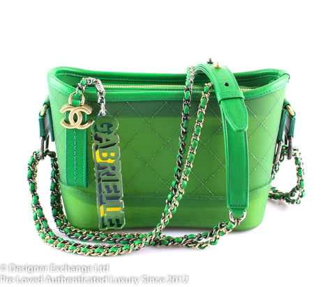Chanel Small Gabrielle Green Hobo Runway Sample 2017