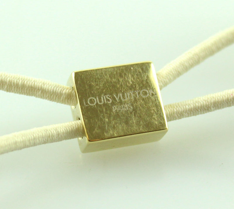 Louis Vuitton White Inclusion Hair Tie Cubes (2)