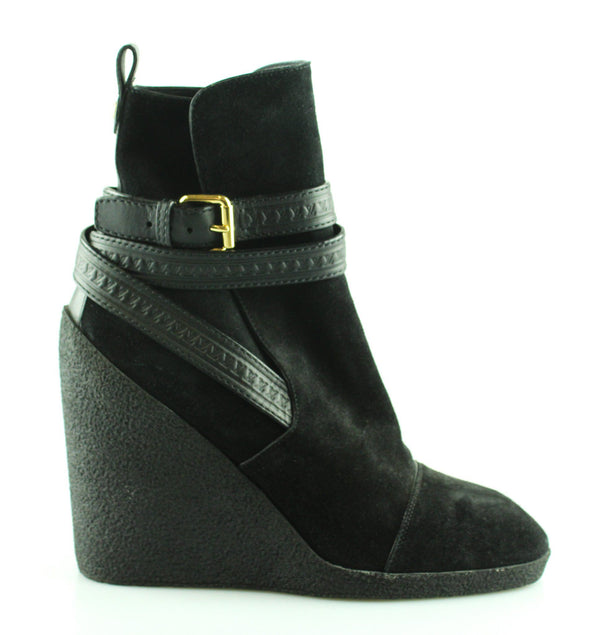 Louis Vuitton Suede Calfskin Crossroads Wedge Ankle Boot EUR 39 UK 6