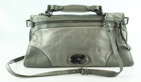 Mulberry Taylor Satchel Mole Grey Soft Matte Leather