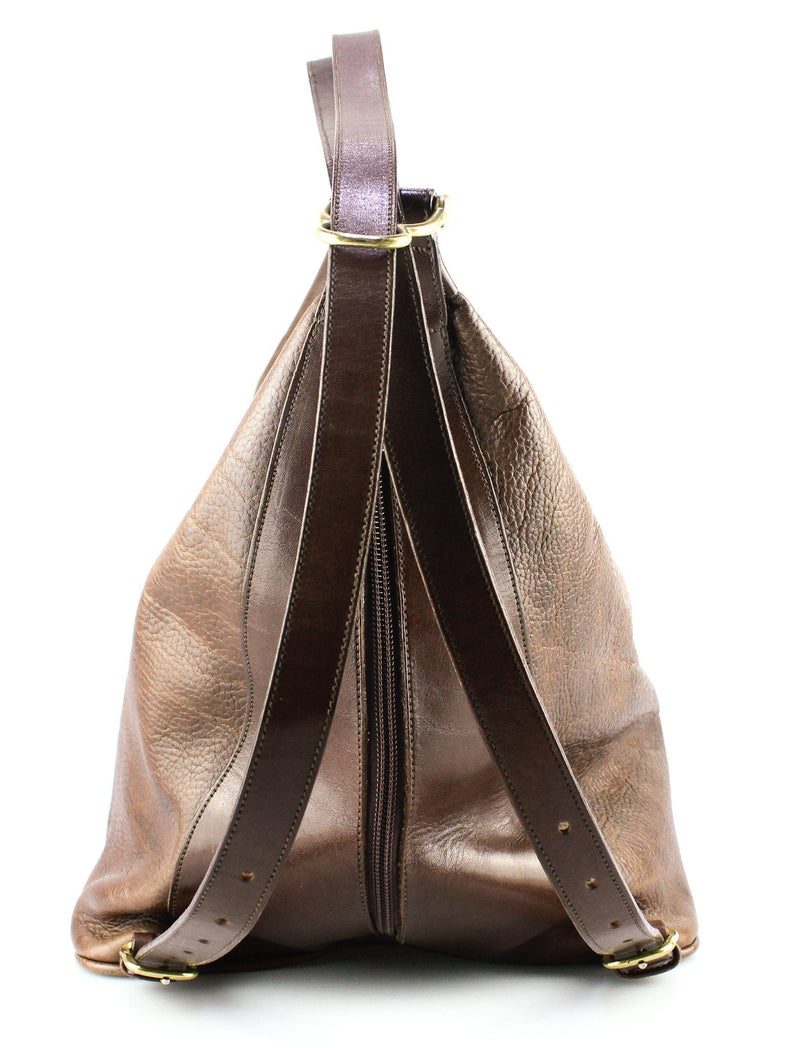 Chesneau Brown Leather Hobo