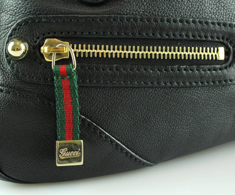 Gucci Capri Web Detail Chain Bag Black