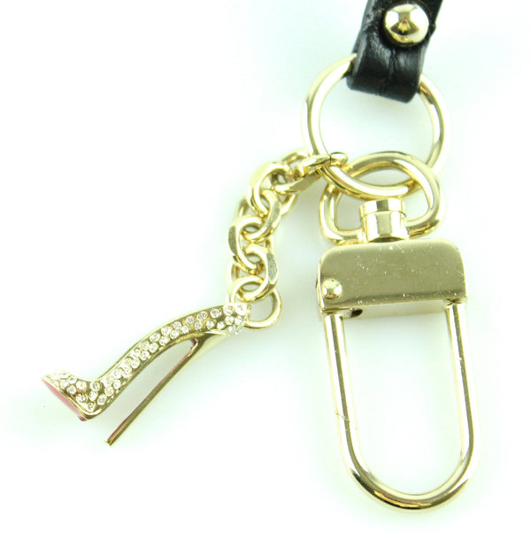 Christian Louboutin Leather And Goldtone Metal Shoe Charm
