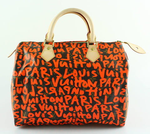 Louis Vuitton Sprouse Graffiti Speedy 30 Neon Orange AA0029