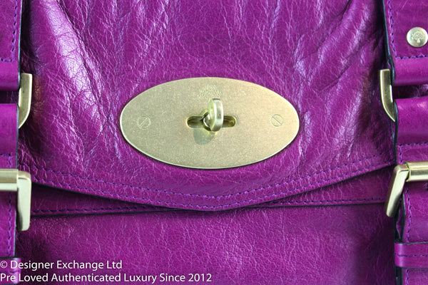 Mulberry Alexa Clutch Long Strap Magenta