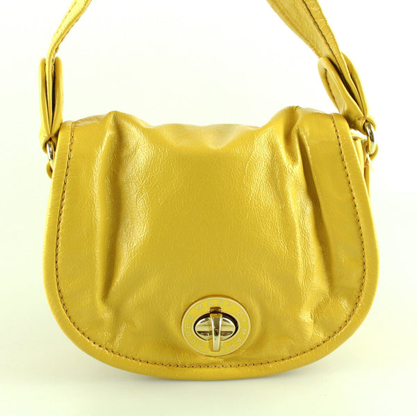 Marc by Marc Jacobs Yellow Patent Small Shoulder Bag
