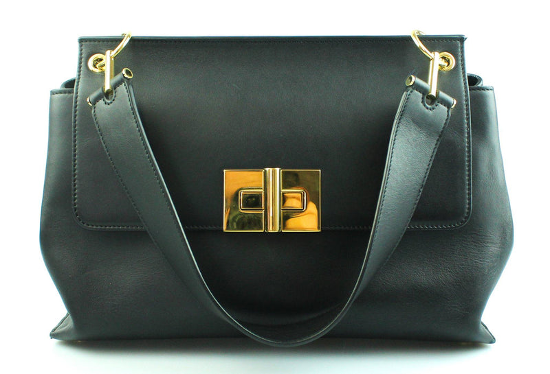 Tom Ford Natalia Black Top Handle Shoulder Bag