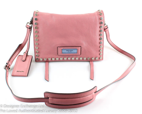 Prada Etiquette Pink Studded Shoulder Bag RRP €1970