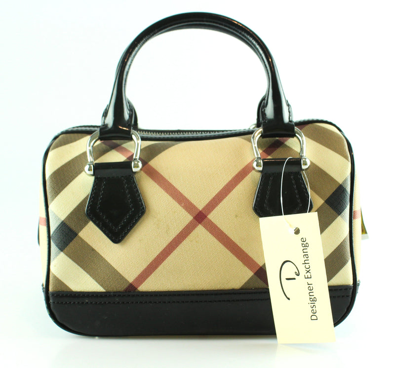 Burberry Nova Check Small Bowler Bag Sh