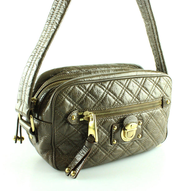 Marc Jacobs Cola High Shine Leather Shoulder Bag
