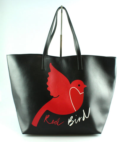 Red Valentino Large Soft Leather Bird Shopper