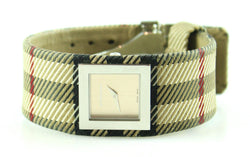 Burberry Ladies Hertitage Check Analogue Watch