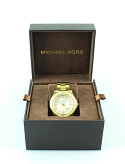 Michael Kors MK5174 Unisex Gold/Yellow Large Dial MOP Watch