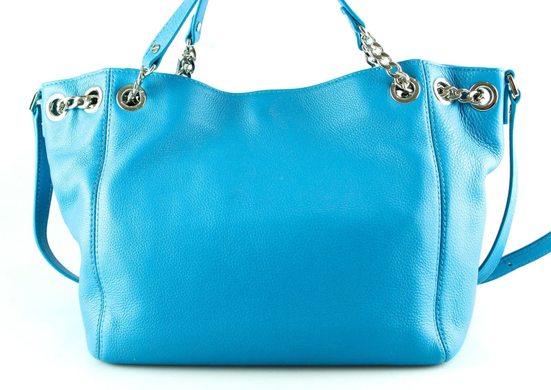 Michael Kors Jet Set Chain In Blue Leather