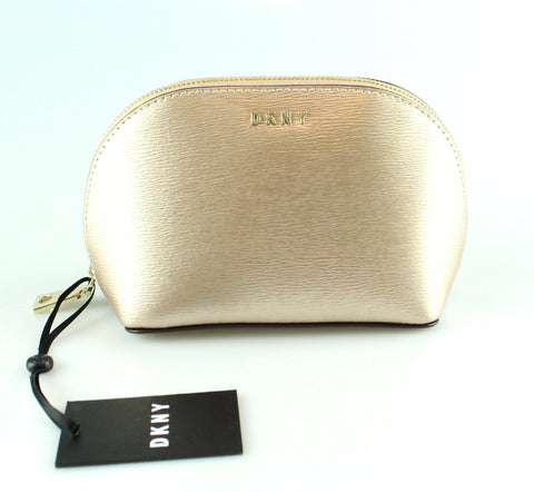 DKNY Bryant Cosmetic Pouch Gold GH New