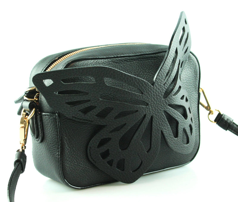 Sophia Webster Black Flossy Butterfly Camera Bag RRP €380