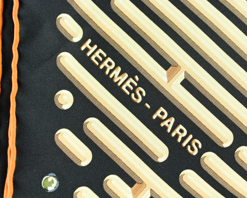 Hermes Parcours DH 90 x 90 Silk Scarf