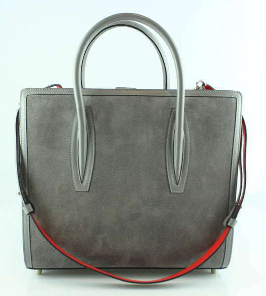 Christian Louboutin Paloma Medium Grey Leather Suede Tote Rrp 1950