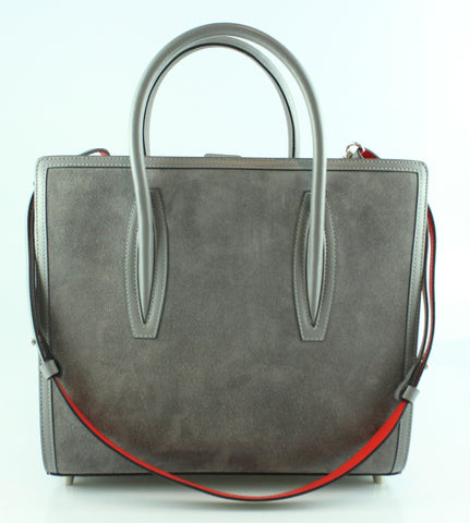 b81d88cad Christian Louboutin Paloma Medium Grey Leather/Suede Tote RRP €1950