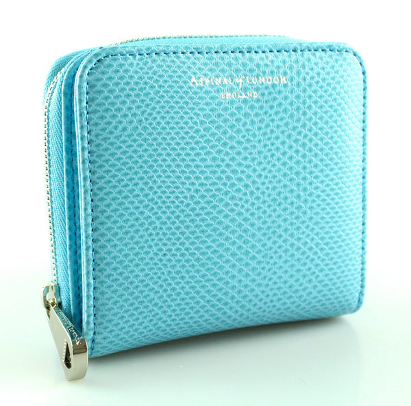 Aspinal Of London Sky Blue Mini Continental Wallet