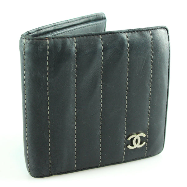 Chanel Navy Quilted Bi Fold Wallet 05/06