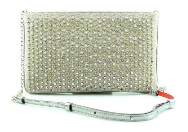 Christian Louboutin Loubiposh Metallic Spikes Chain Messenger