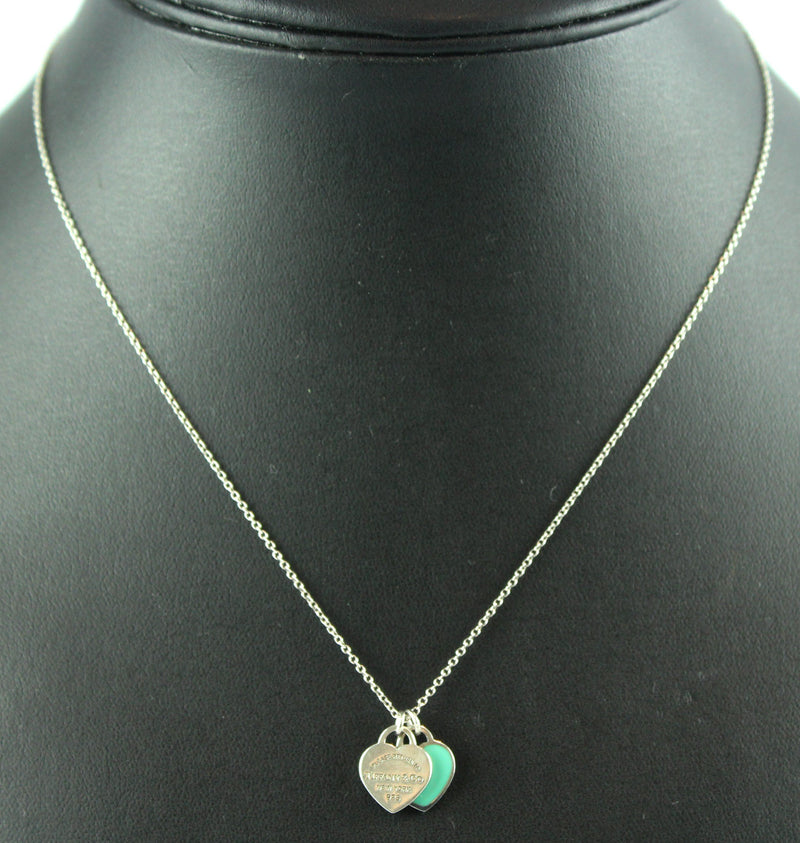 Tiffany & Co. RTT Mini Double Heart Tag Pendant RRP €140