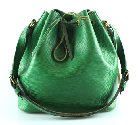Louis Vuitton Vintage Borneo Green Epi Leather Petite Noe 871A2