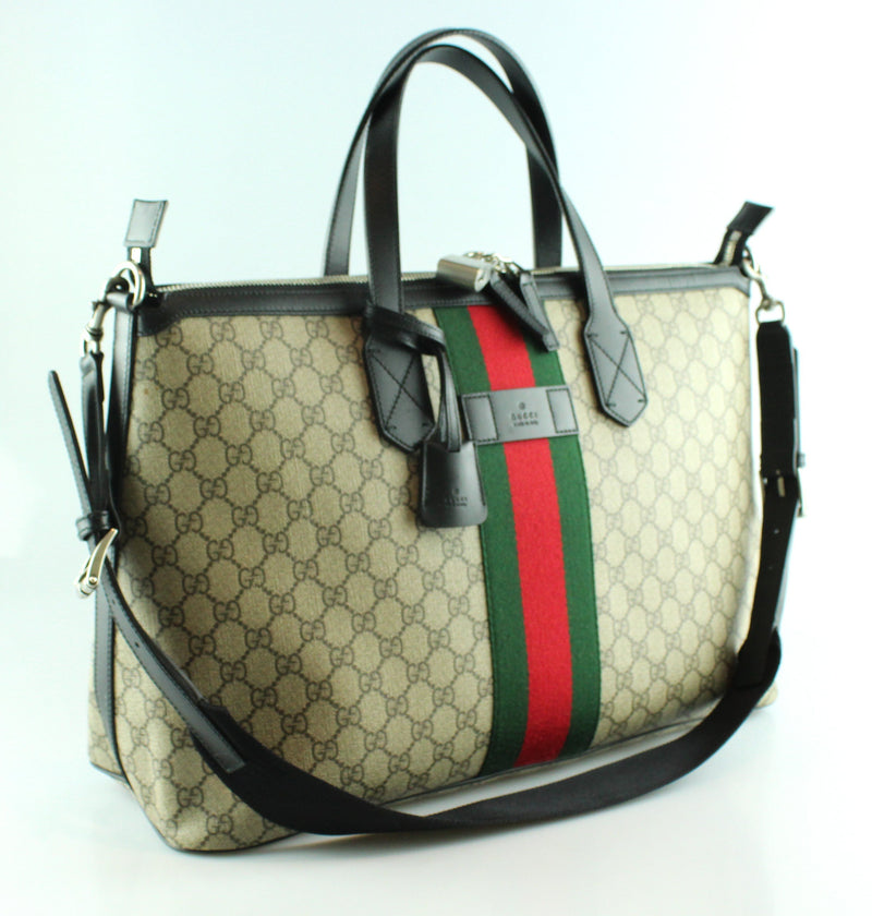 Gucci Monogram Canvas With Web Detail Hold All