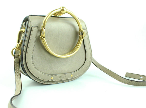 Chloe Nile Motty Grey Small Bracelet Bag