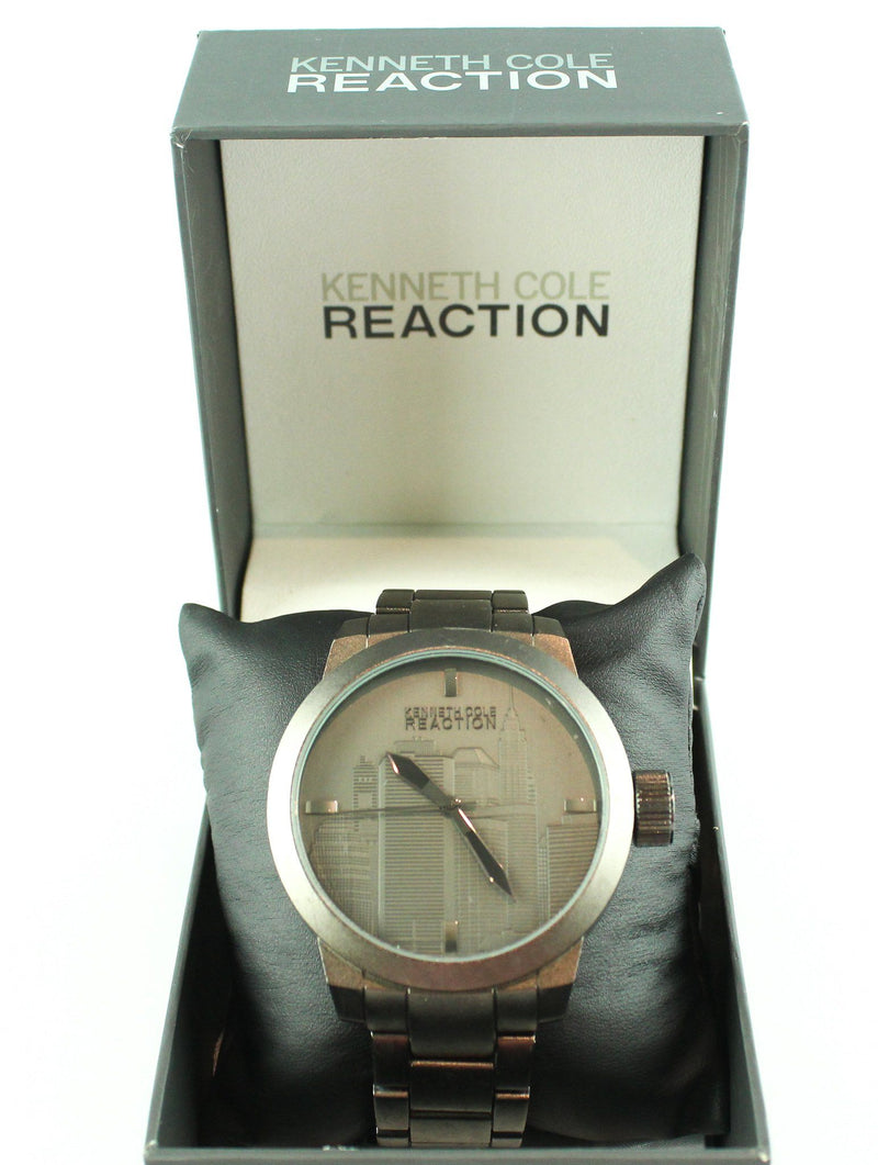 Kenneth Cole Reaction Mens Cityscape Analogue Watch Grey