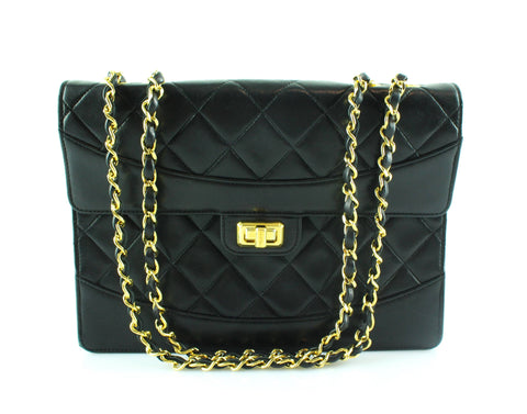Chanel Vintage Lambskin Turnlock 1989/91