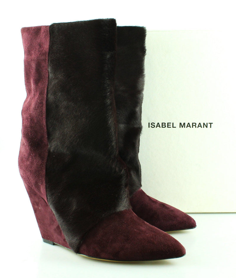 Isabel Marant Lazio Bordeaux Goat Suede Leather 39/6