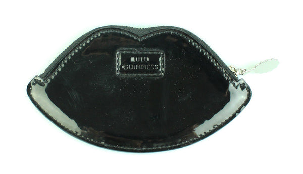 Lulu Guinness Black Patent Lips Coin Purse