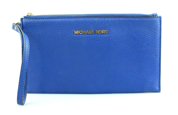 Michael Kors Blue Leather Wristlet