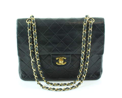 Chanel Vintage Lambskin Single Flap GH 1988