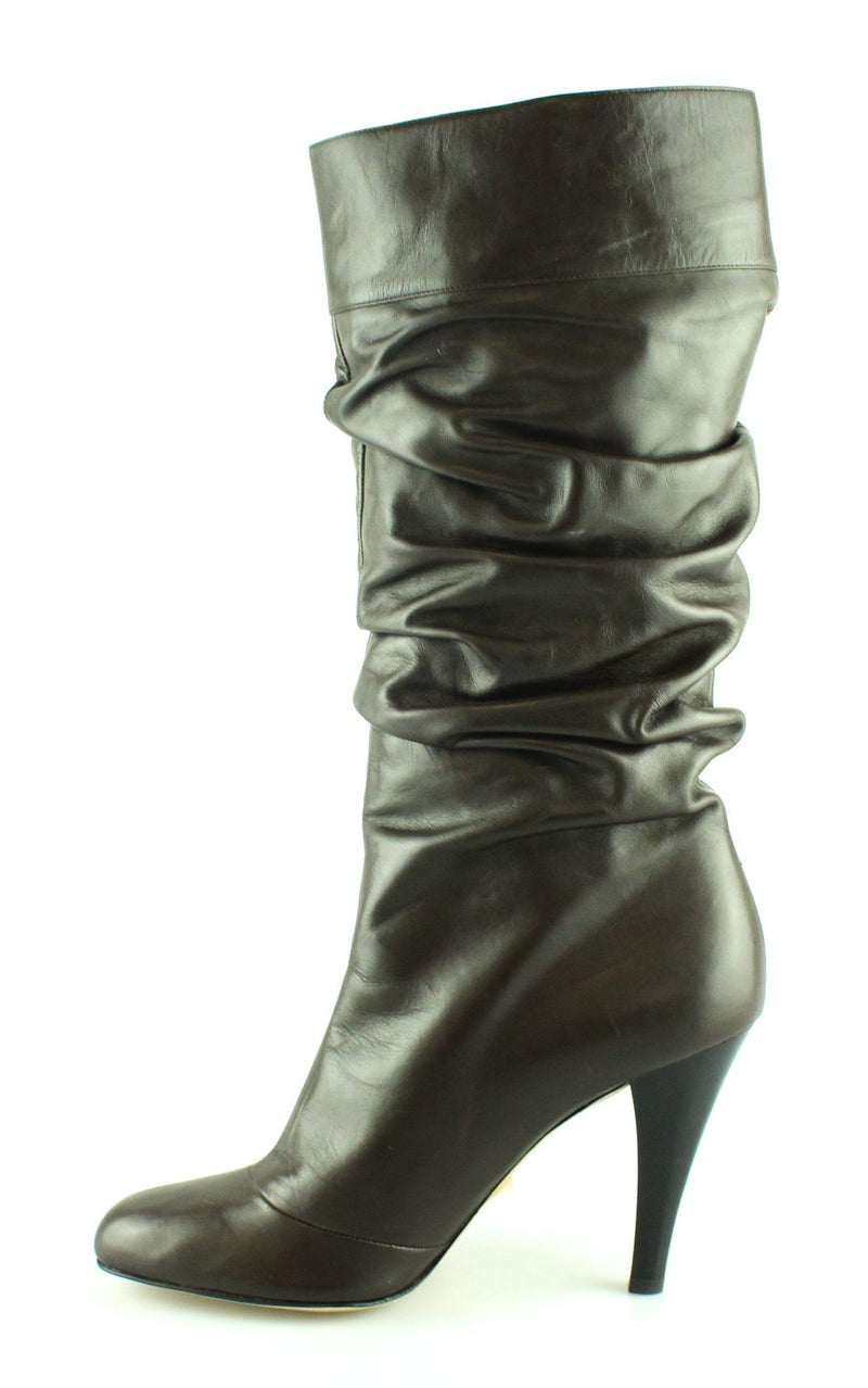 Chocolate Charmcalf Stacked Heel Boots