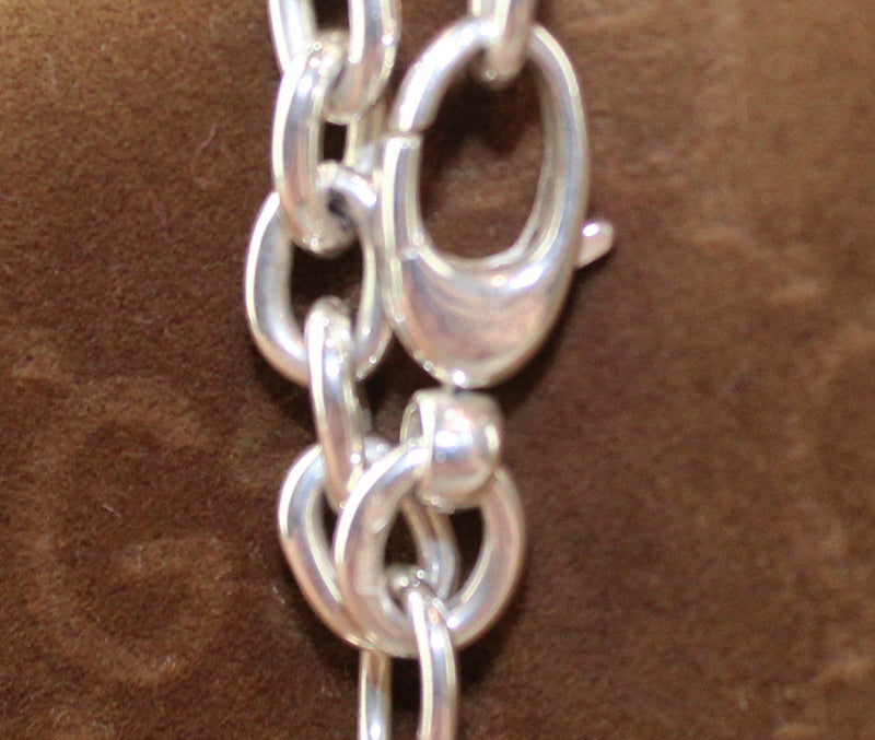 Gucci Sterling Silver GG Chain Bracelet