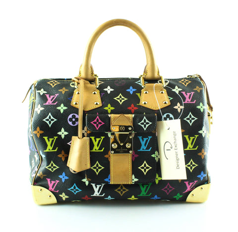 Louis Vuitton Multicolour Black City Speedy 30