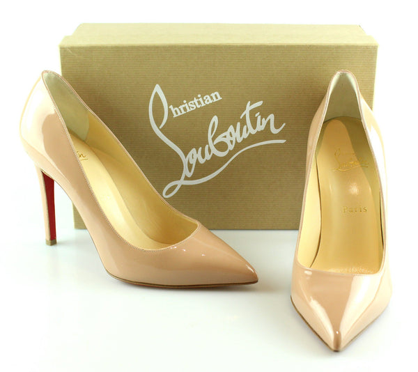 finest selection b64aa fc7a3 Christian Louboutin Pigalle 100mm Patent Calf Nude EUR 39 UK 6