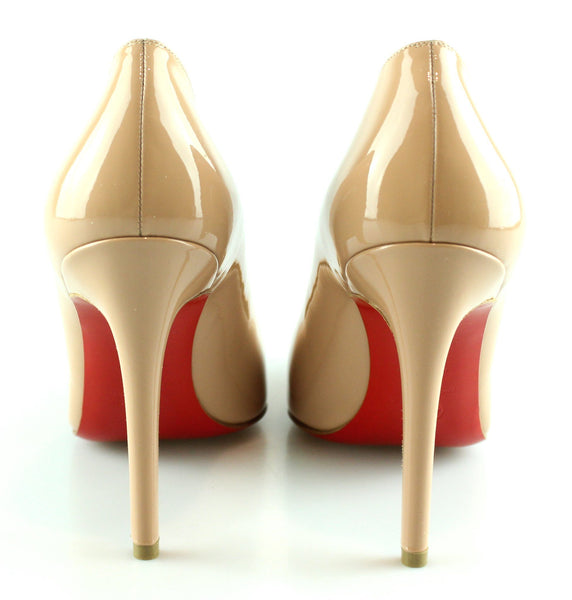 finest selection 7a885 55962 Christian Louboutin Pigalle 100mm Patent Calf Nude EUR 39 UK 6