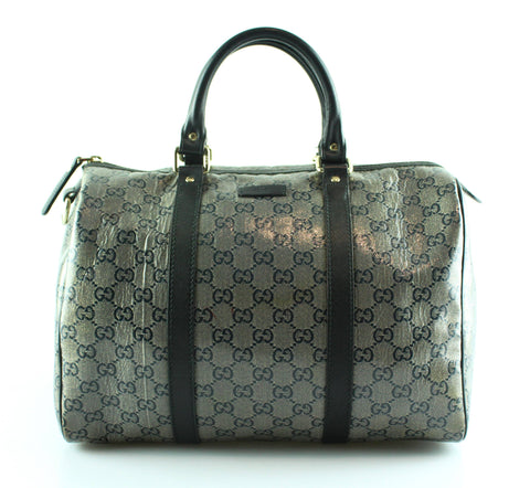 Gucci Metallic Silver/Black Boston Joy